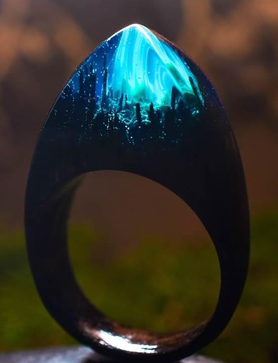 anel fluorescente
