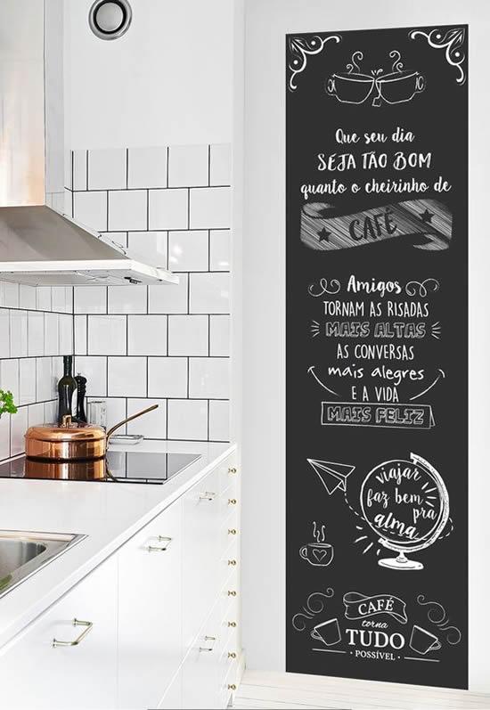 cozinha fofa com parede pintadas
