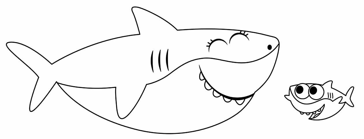 Desenhos de Baby Shark para colorir