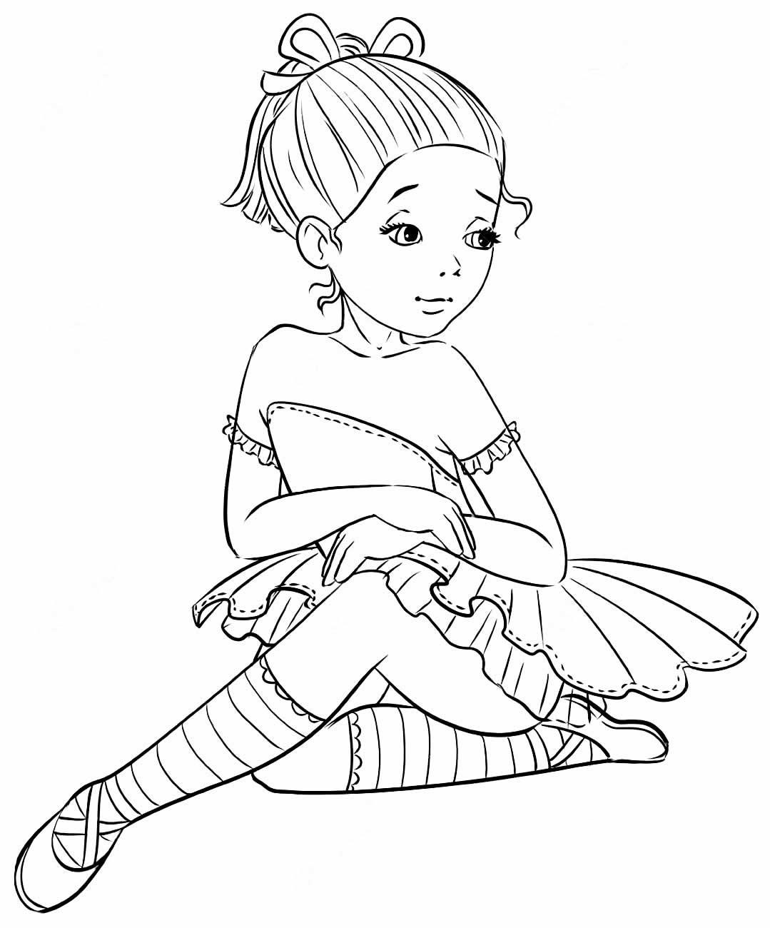 Desenho Bailarina pintar