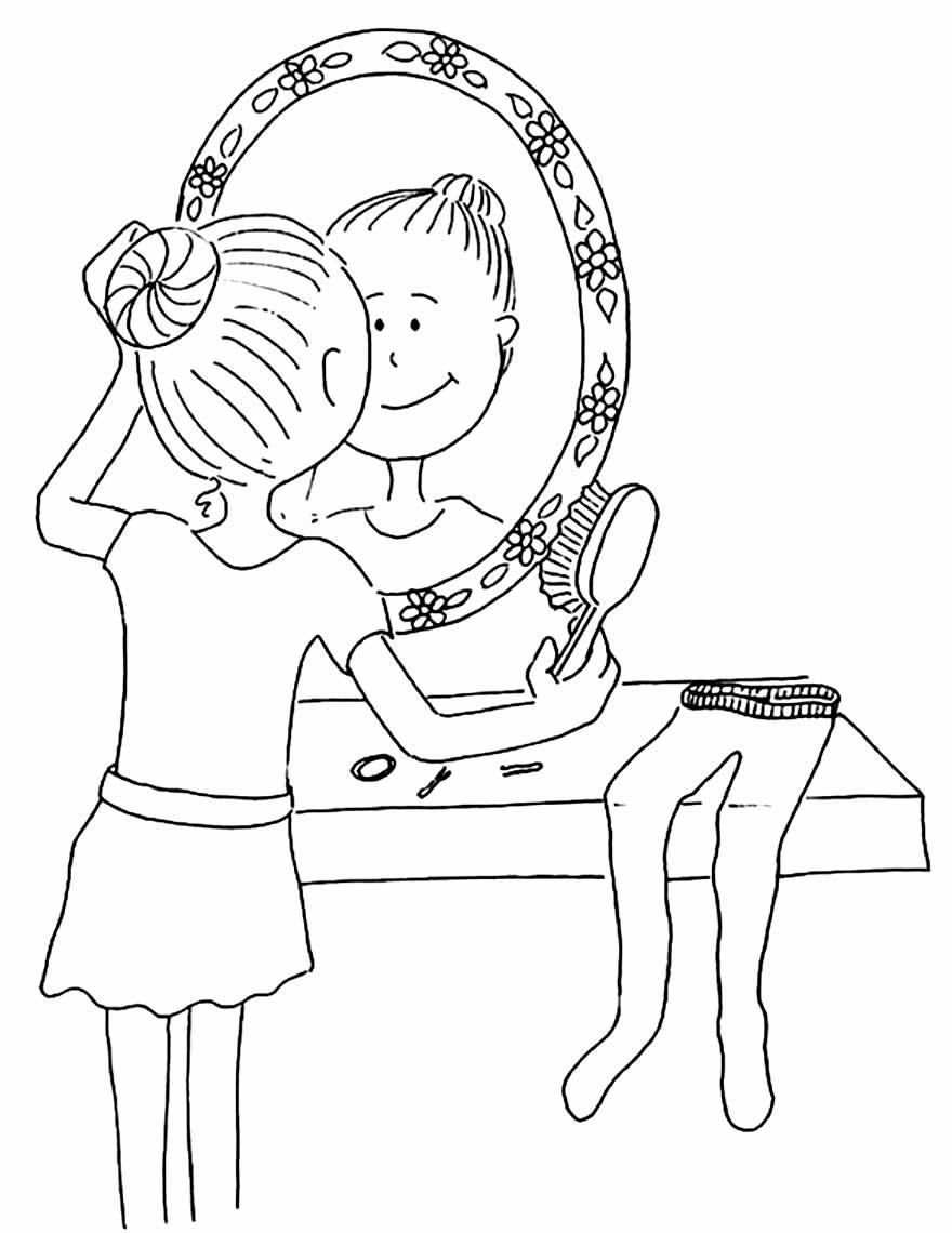 Lindo desenho de Bailarina para colorir