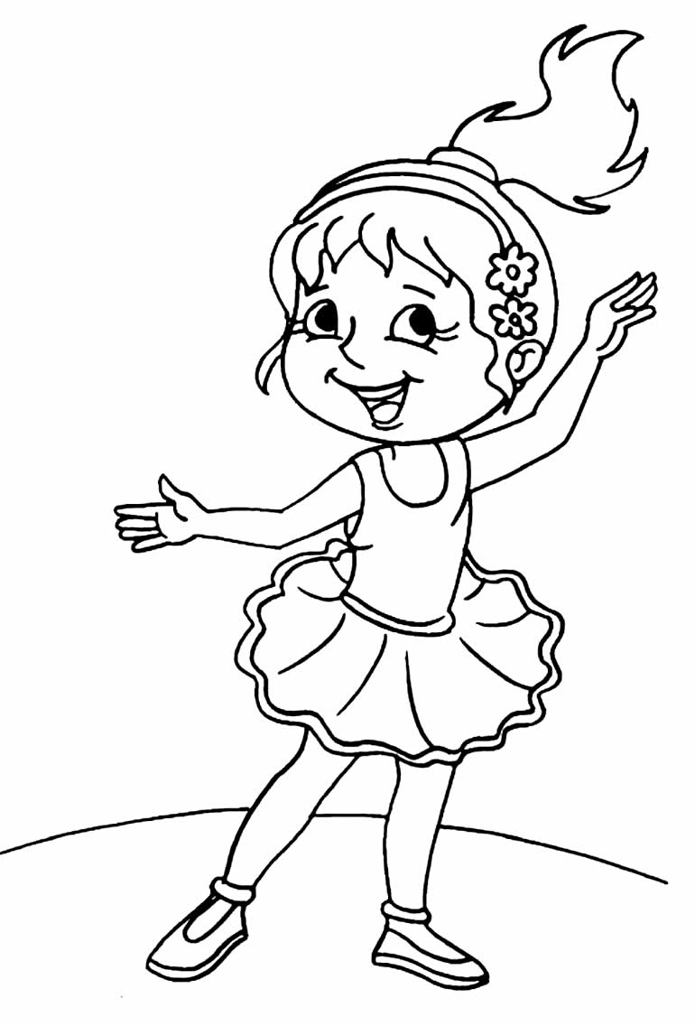 Desenho lindo de Bailarina