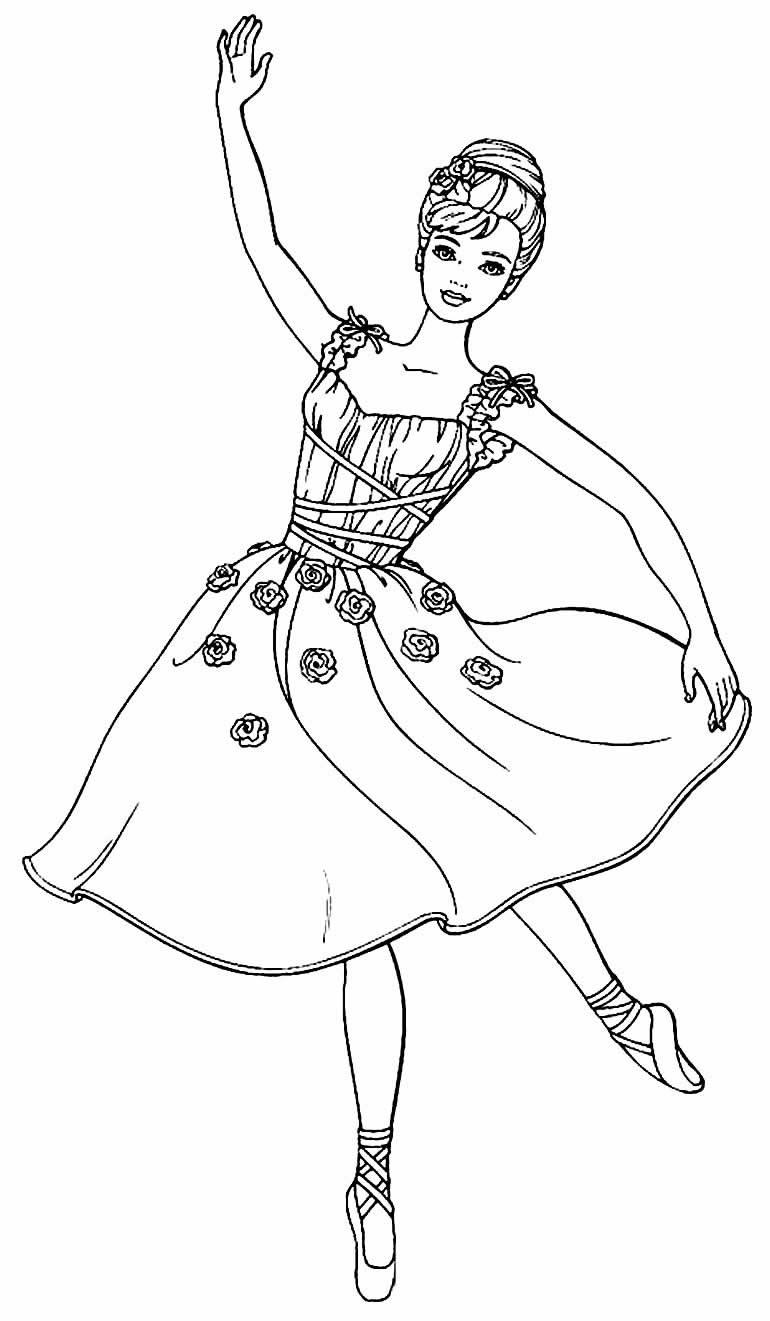 Desenho Bailarina colorir