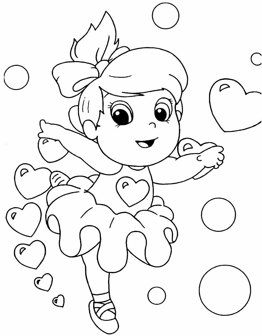 Desenho para colorir de Bailarina