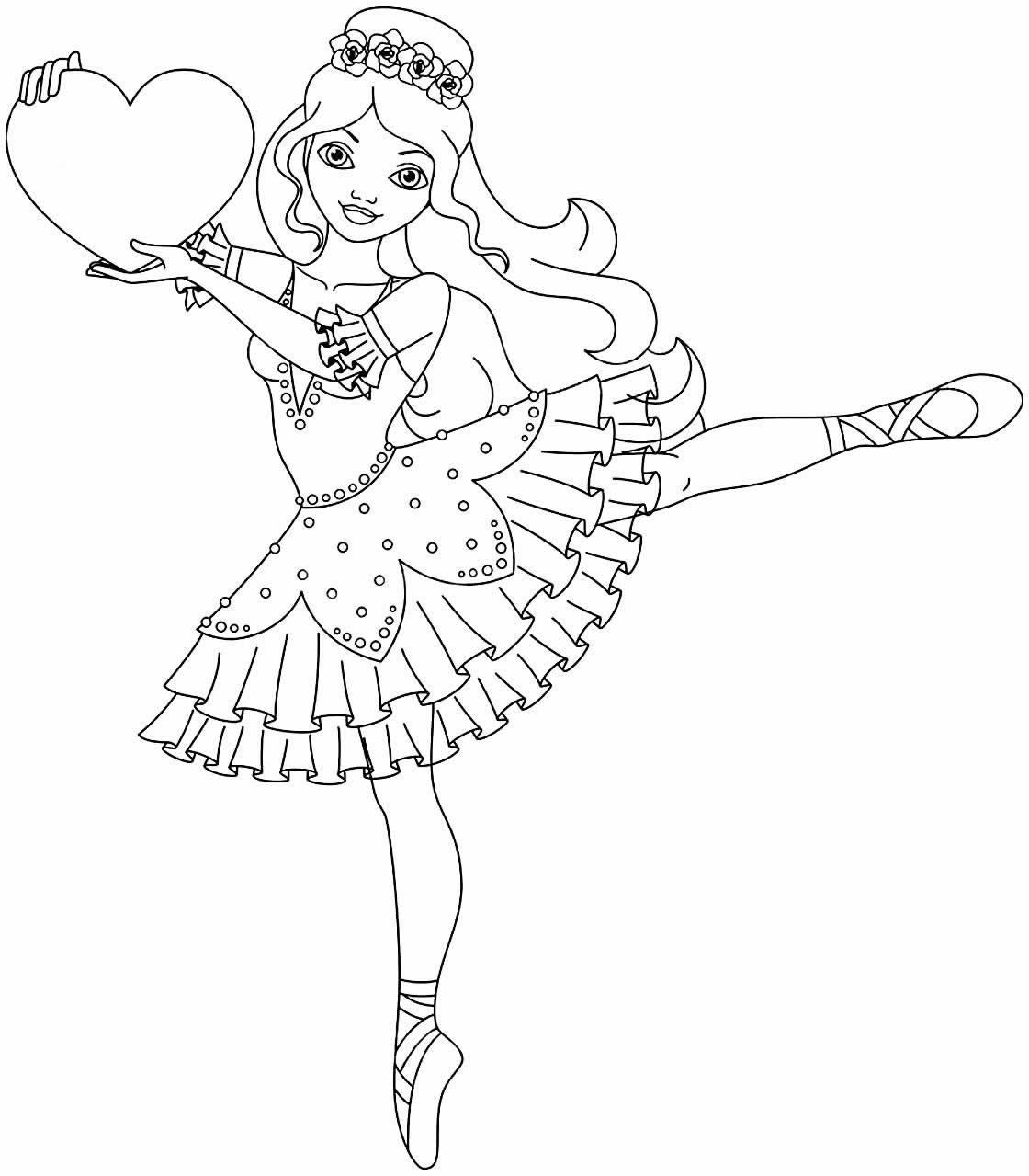 Desenho para pintar de Bailarina
