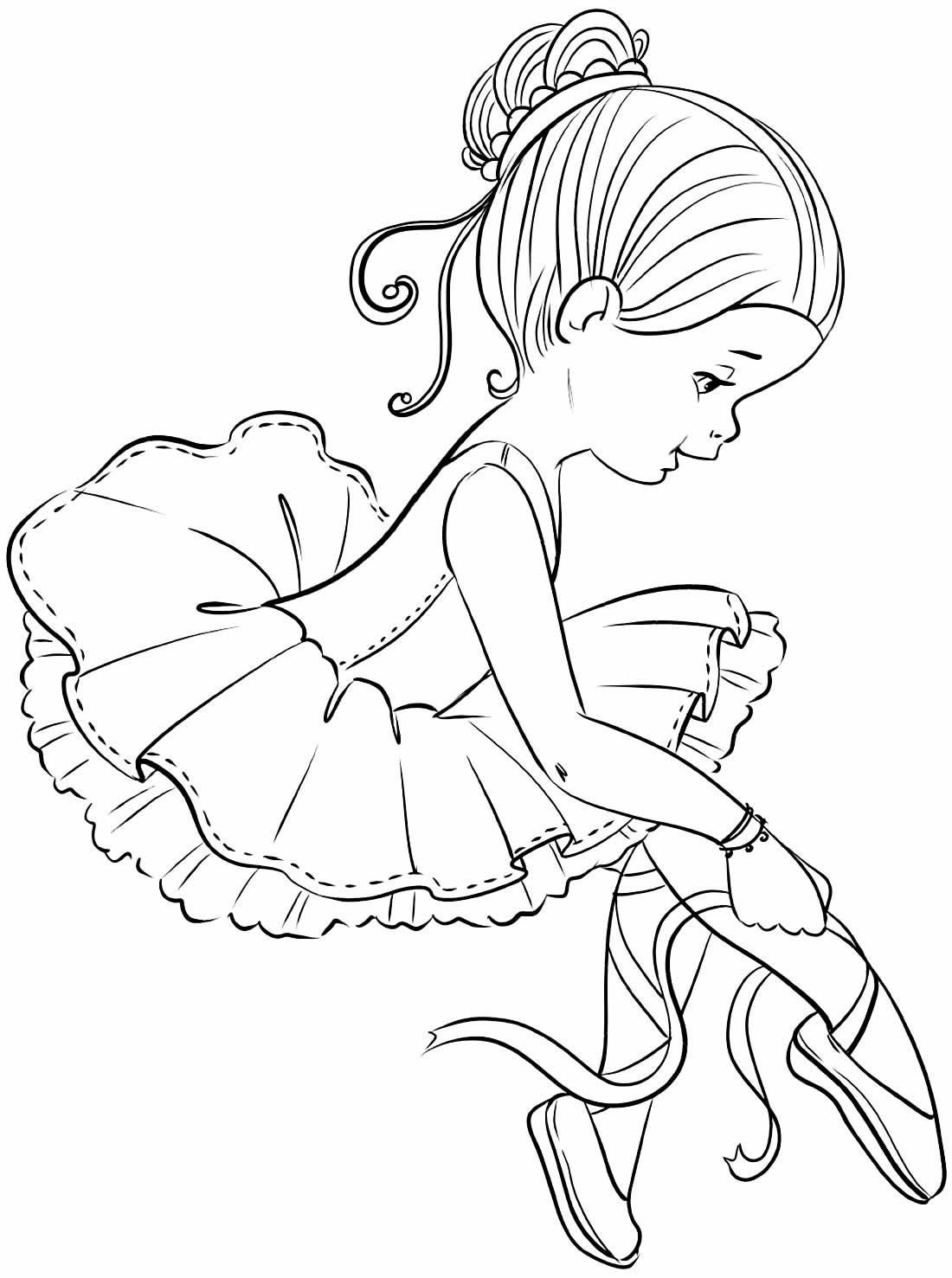 Desenho de Bailarinas para pintar