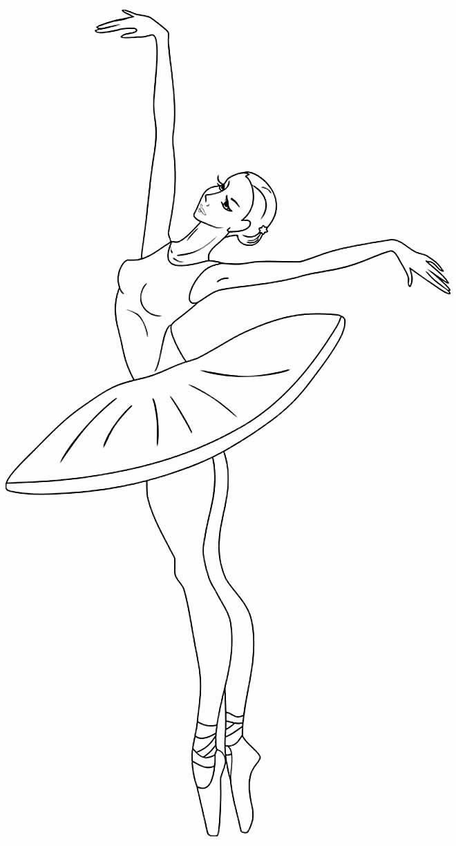 Desenho de Bailarinas para colorir