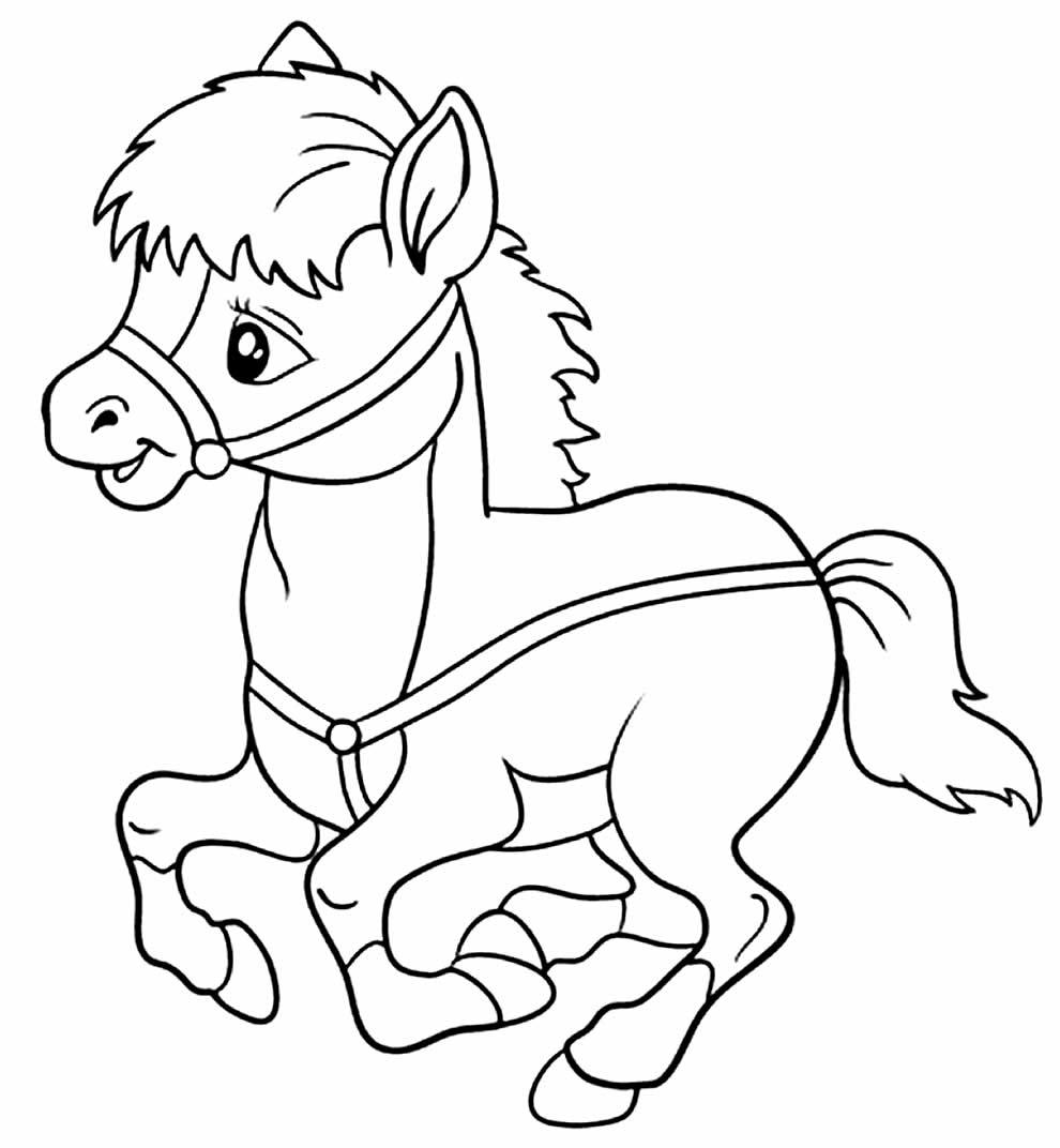 Desenho de cavalinho para pintar