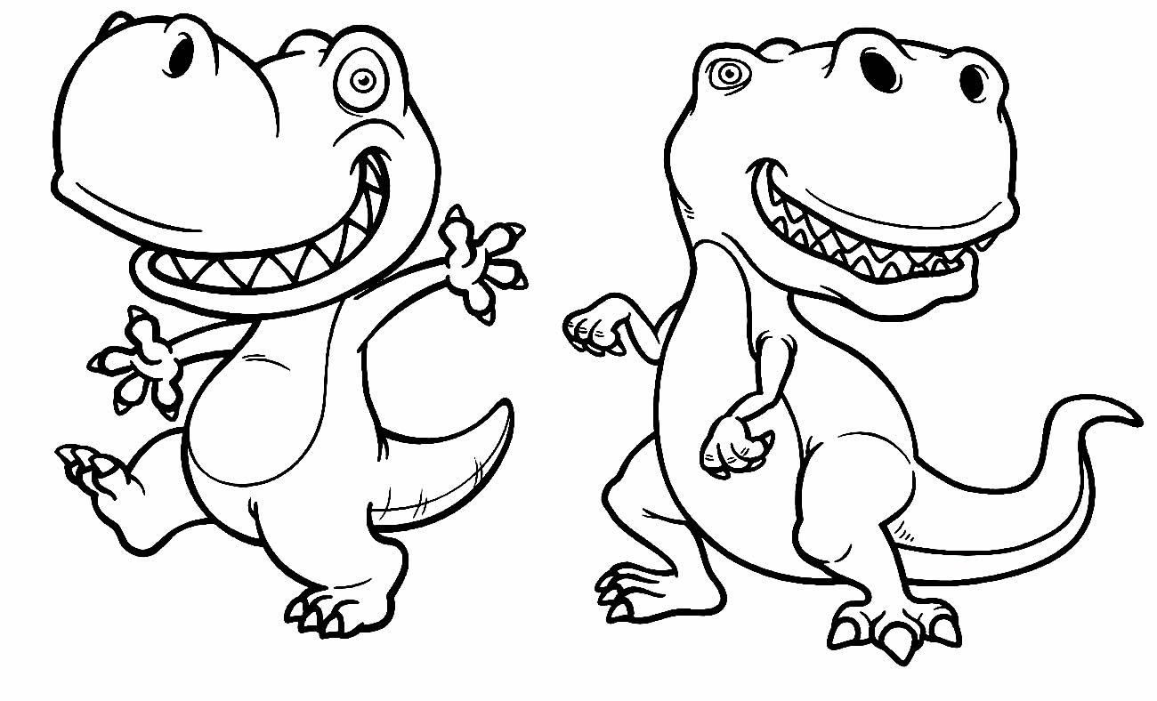 Desenho de Dinossauros T-Rex para colorir
