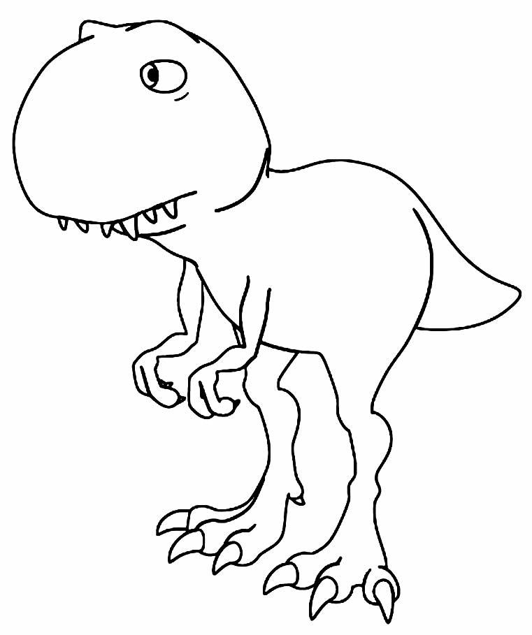 Imagem de T-Rex para pintar