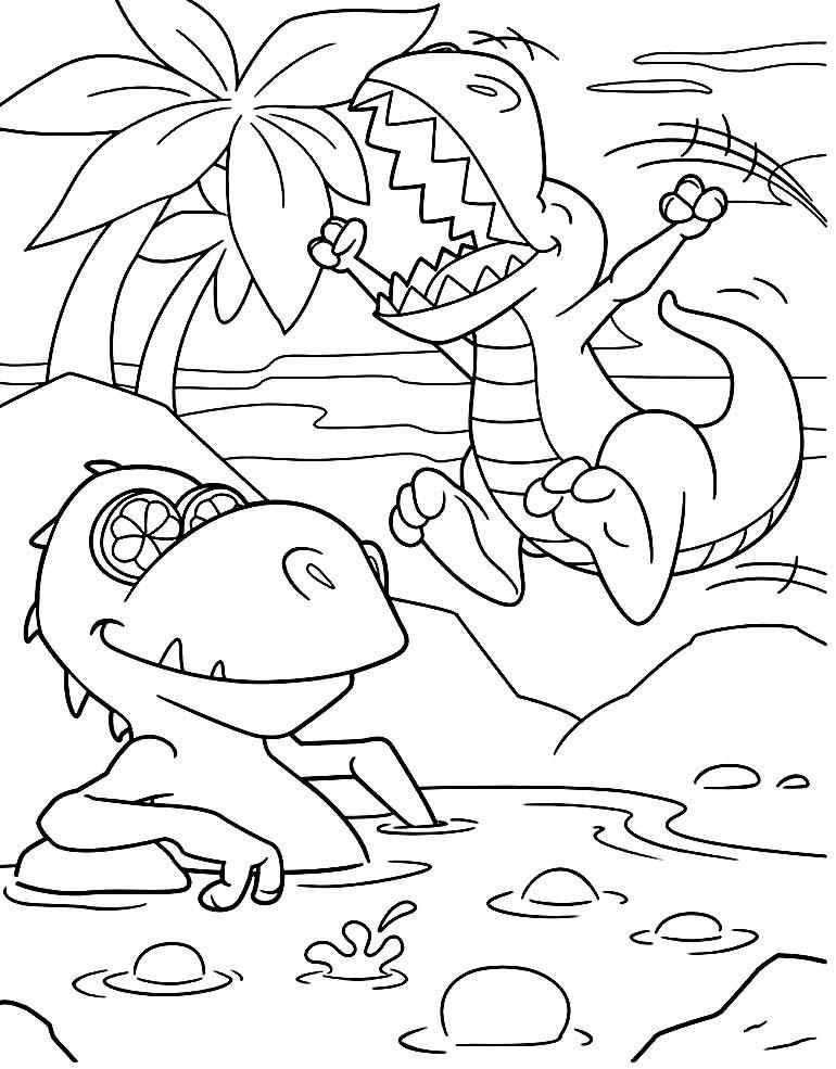 Imagem de T-Rex para colorir