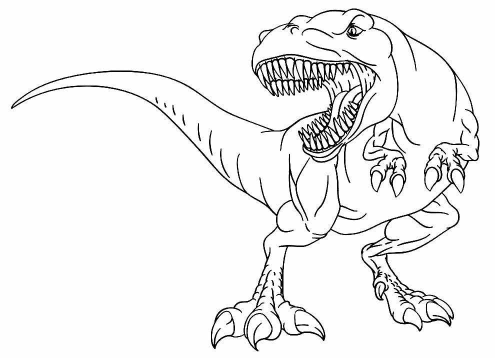 Imagem de T-Rex para colorir e pintar