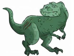 Desenhos de T-Rex para imprimir e colorir