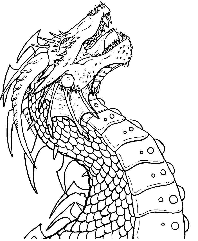 Dragão para colorir e pintar