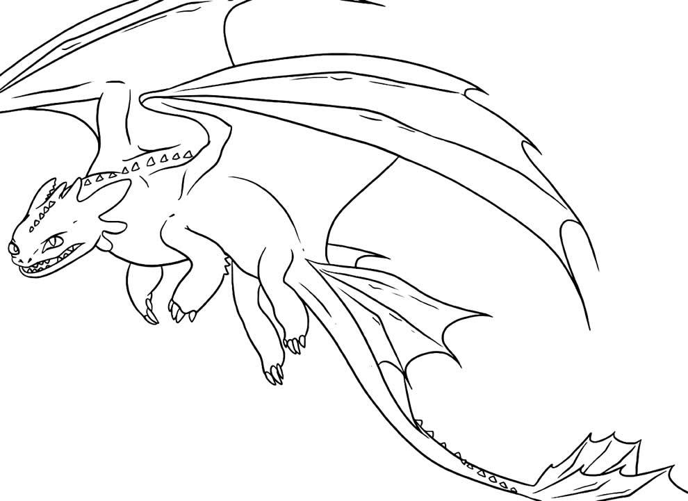 Imagem de Dragão para colorir e pintar