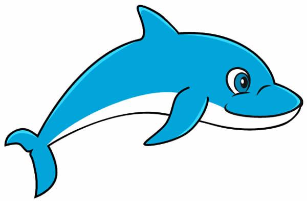 Desenho de Golfinhos para pintar