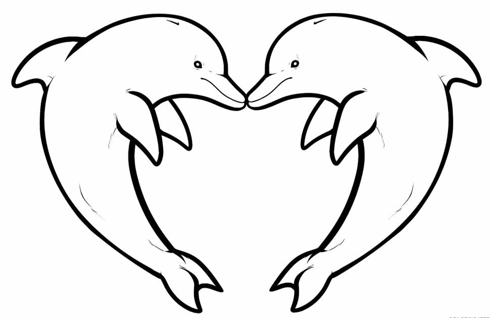 Desenho lindo de Golfinhos