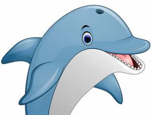 Desenhos de Golfinhos para pintar