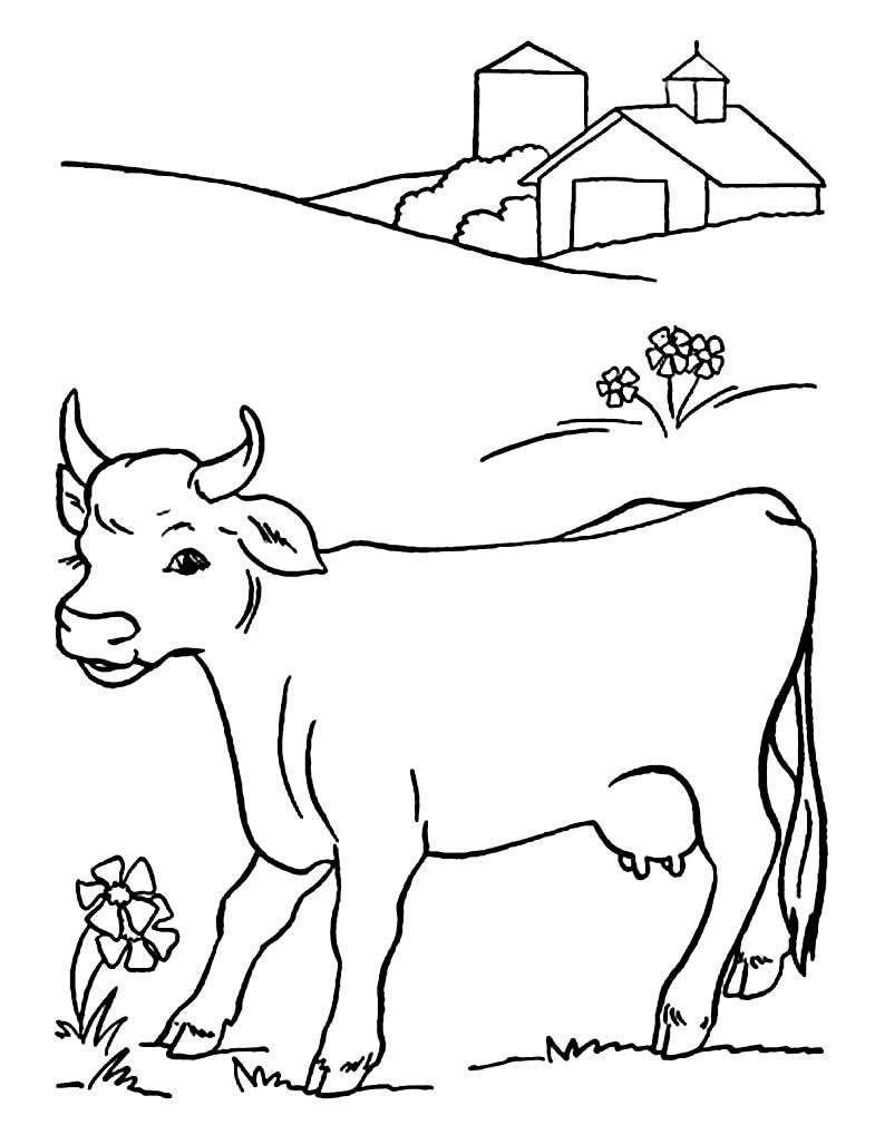 Vaca para colorir