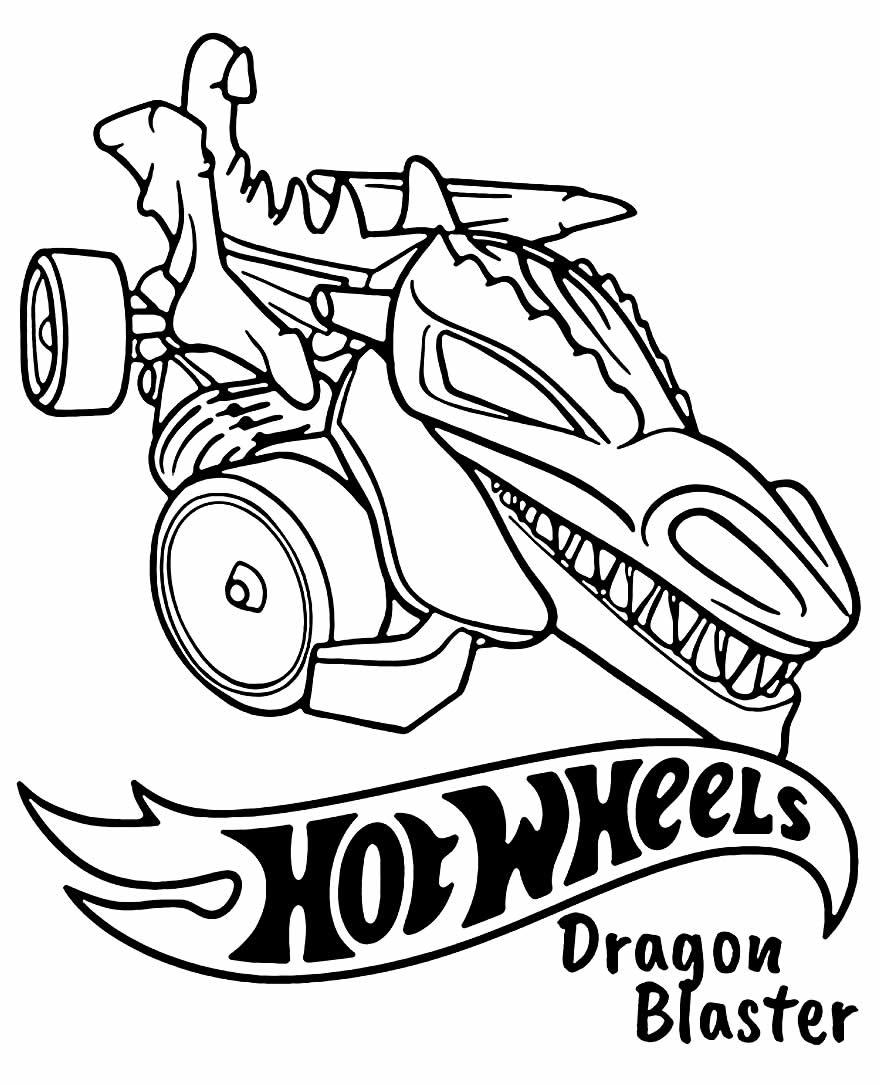 Desenho Hot Wheels para colorir