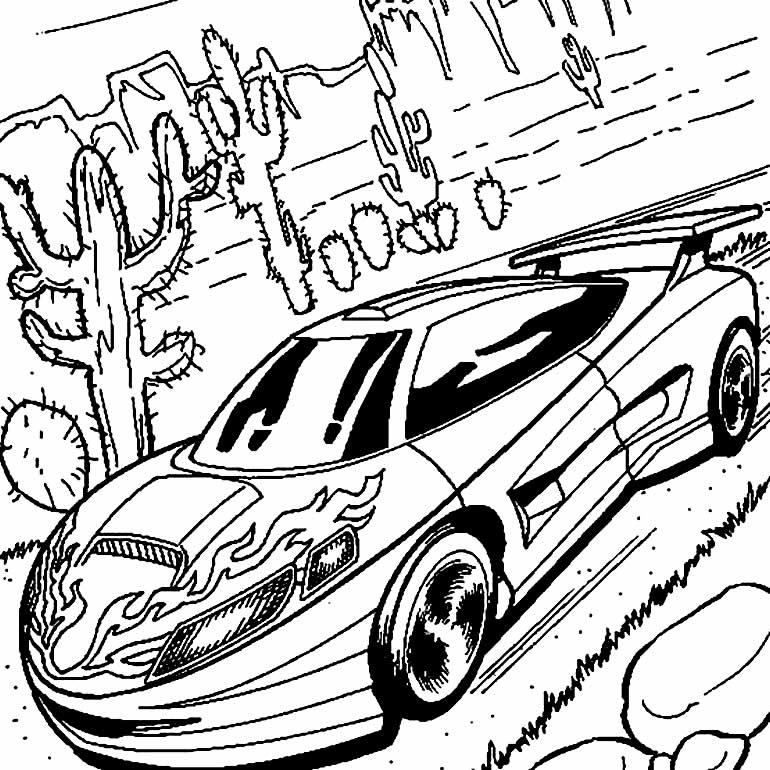 Desenho Hot Wheels para imprimir e colorir