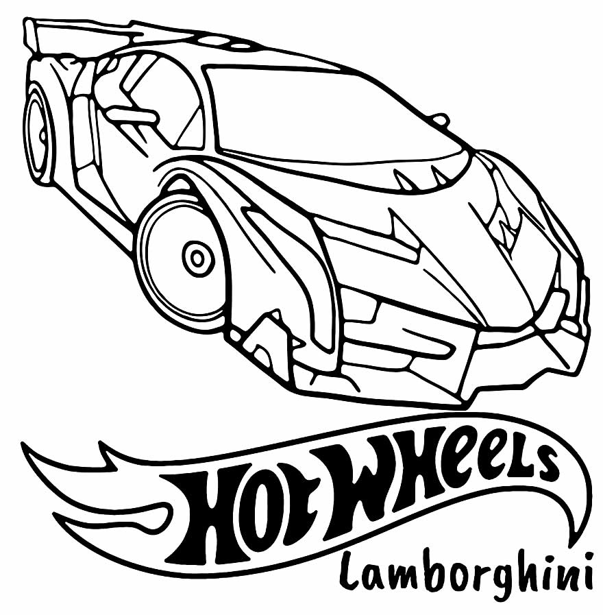 Desenho Hot Wheels para pintar