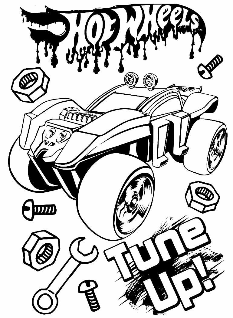 Desenho Hot Wheels para imprimir e pintar