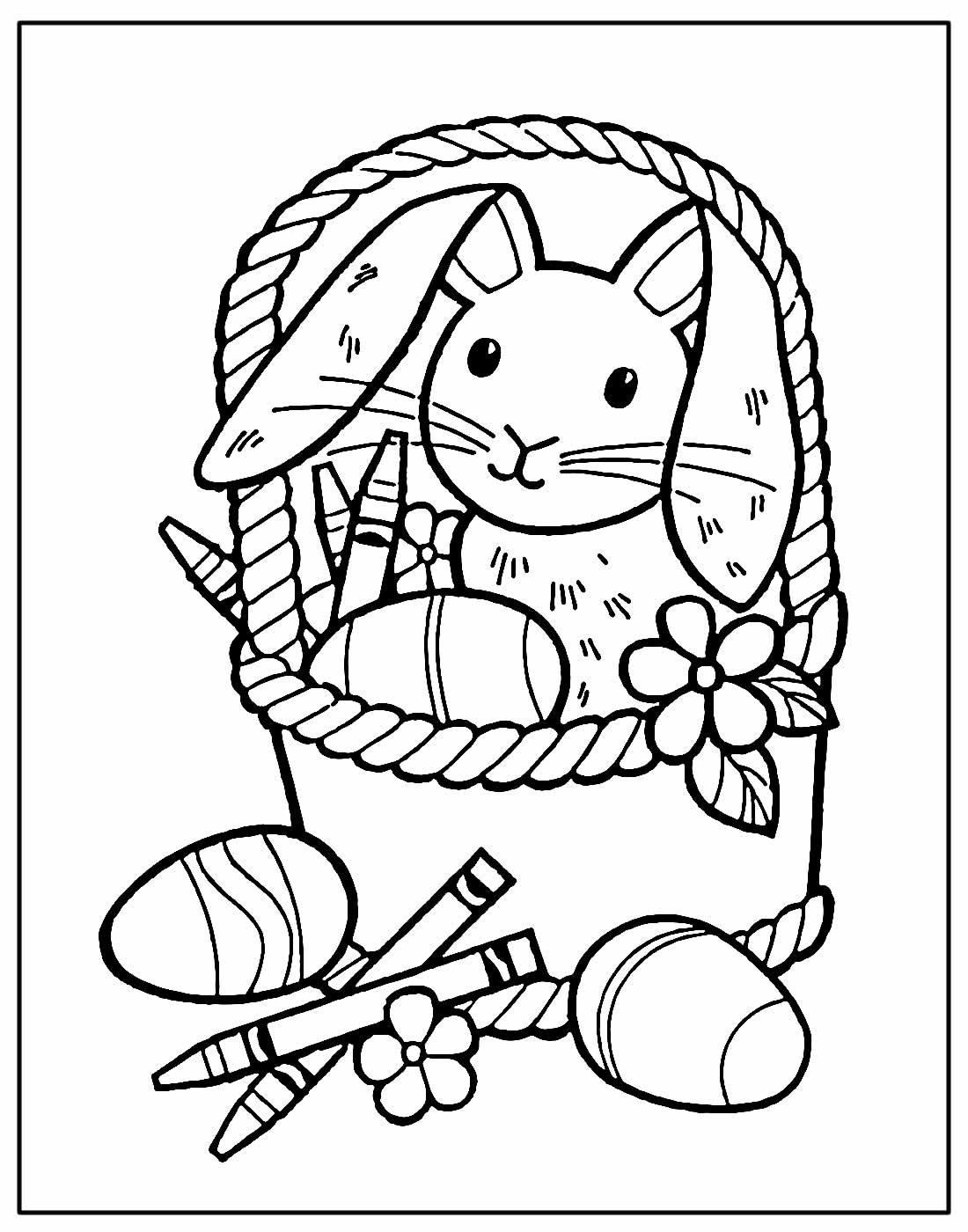 Desenho para colorir de Páscoa