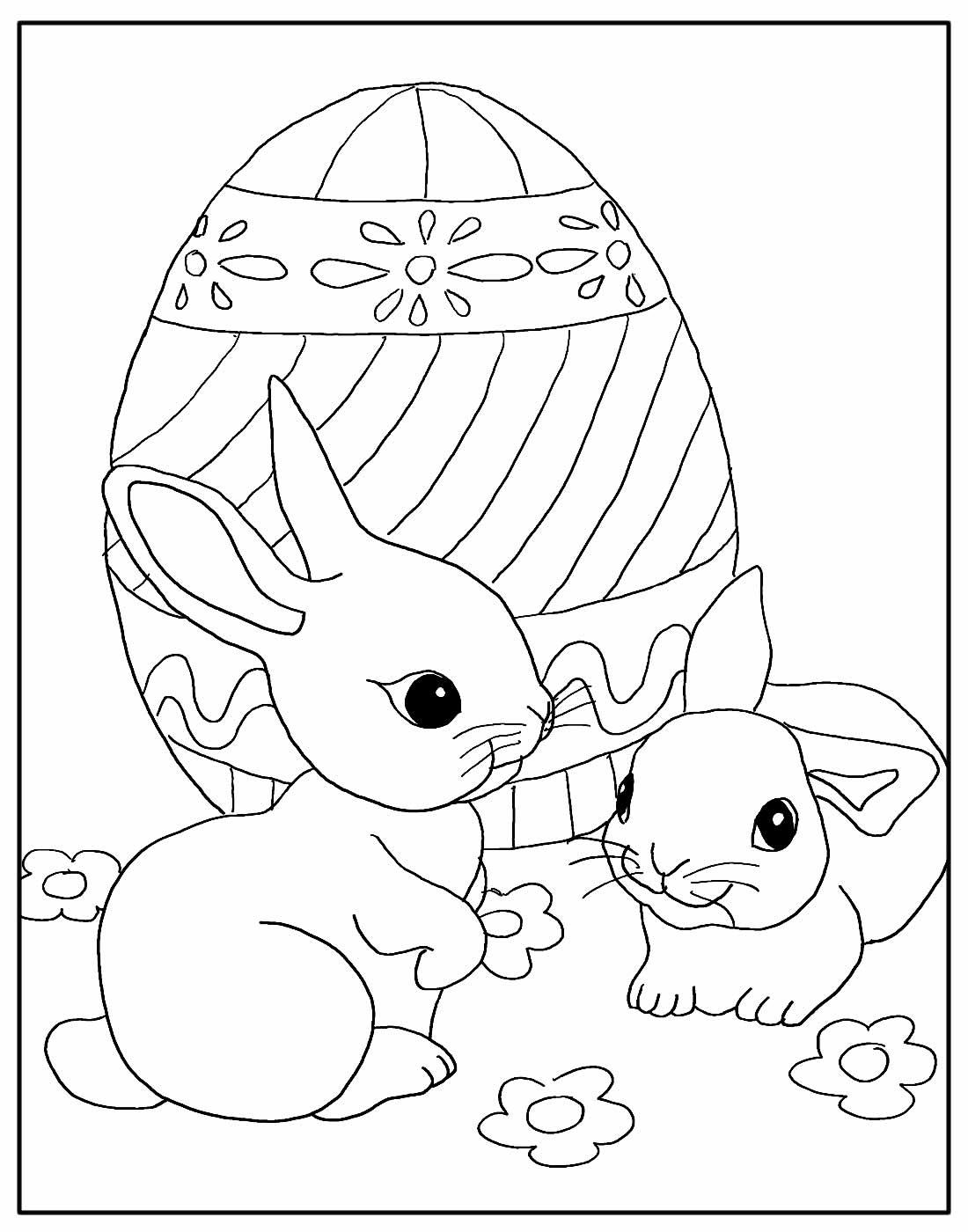 Desenho de Coelhinhos da Páscoa
