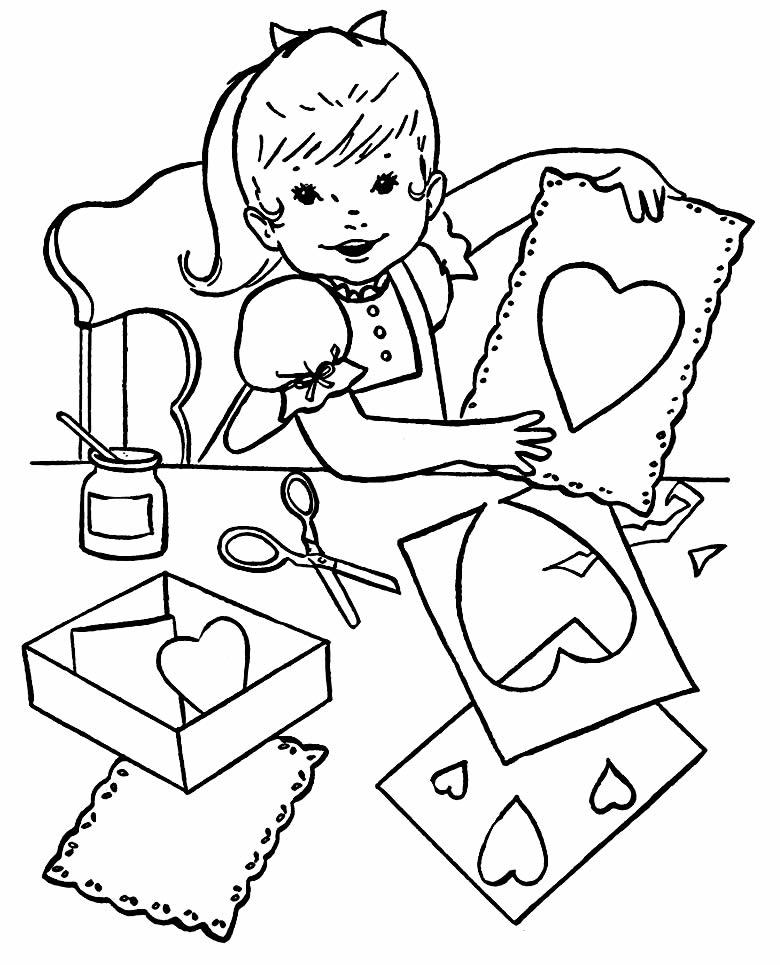 Desenho de corações para colorir e pintar