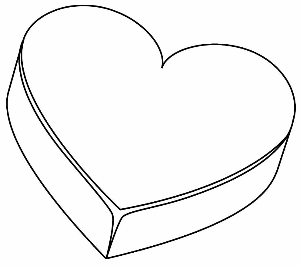 Imagem de coração para imprimir e pintar