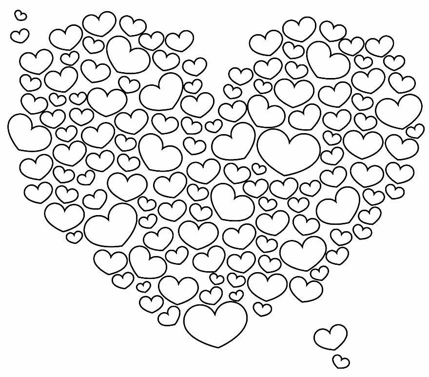 Desenho para pintar de coração