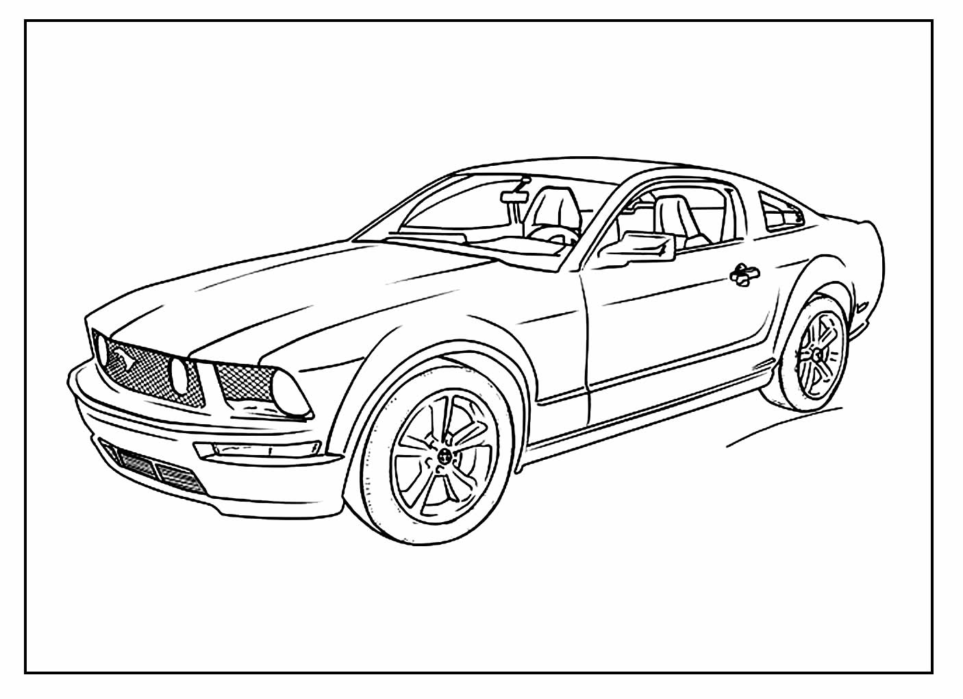 Desenho para colorir de Carro