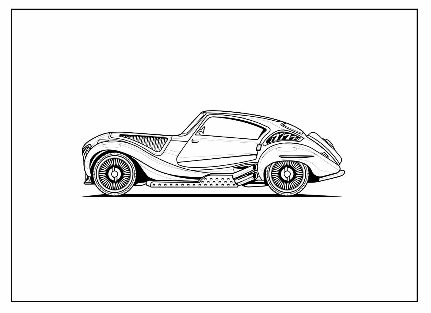Página para colorir de Carro