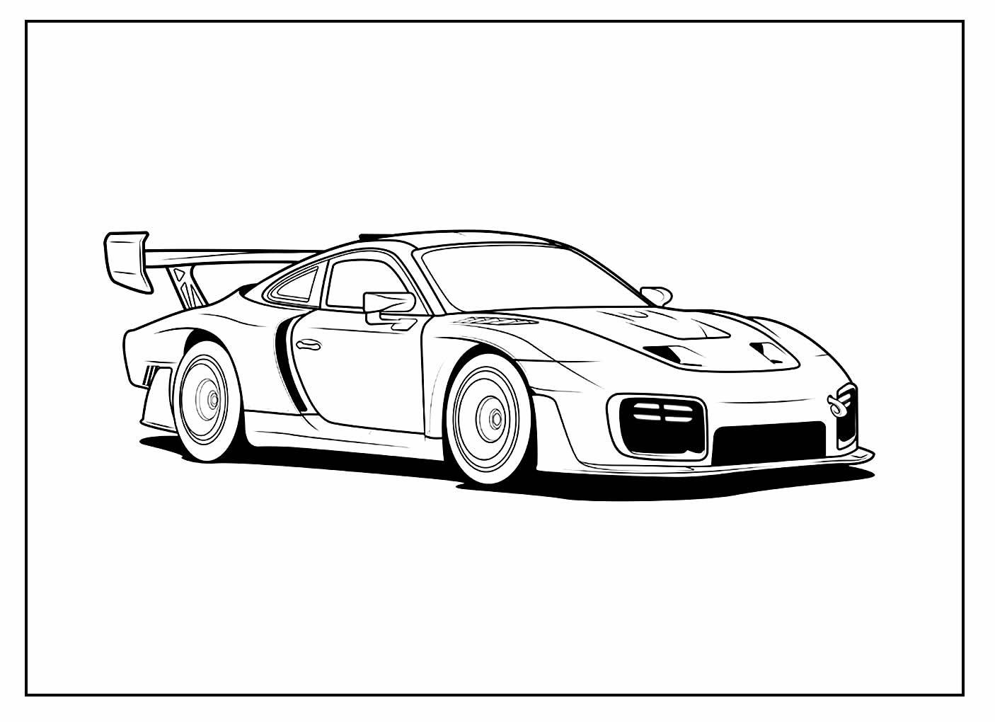 Página para colorir de Carros