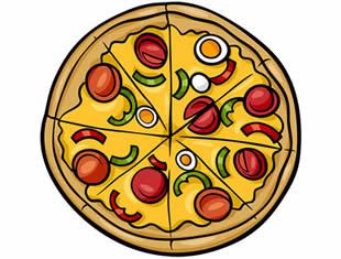 Desenhos lindos de Pizza para colorir e pintar