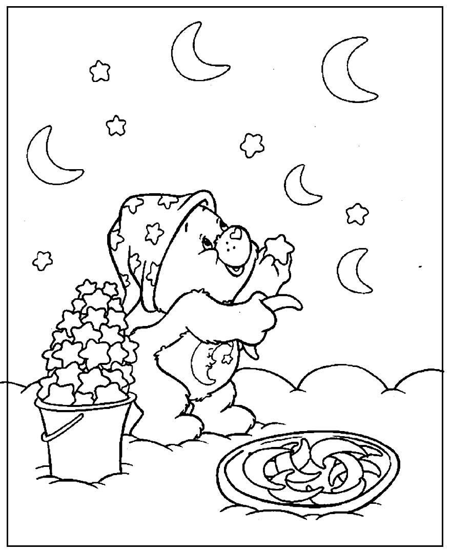 Desenhos para colorir dos Ursinhos Carinhosos