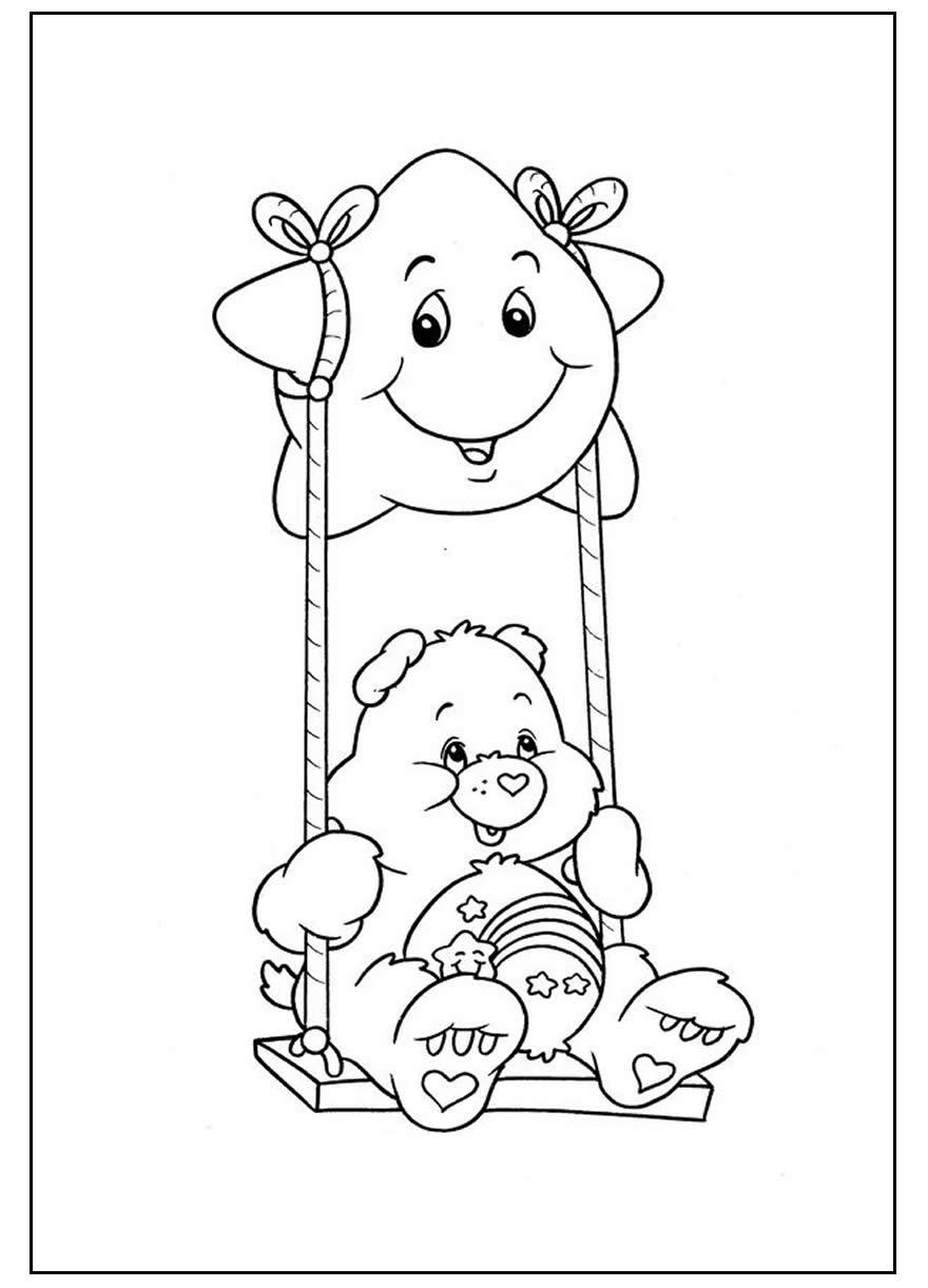 Páginas para colorir dos Ursinhos Carinhosos