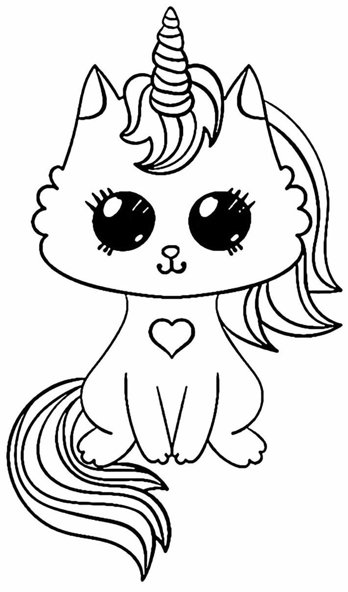 Desenho para colorir de Kawaii