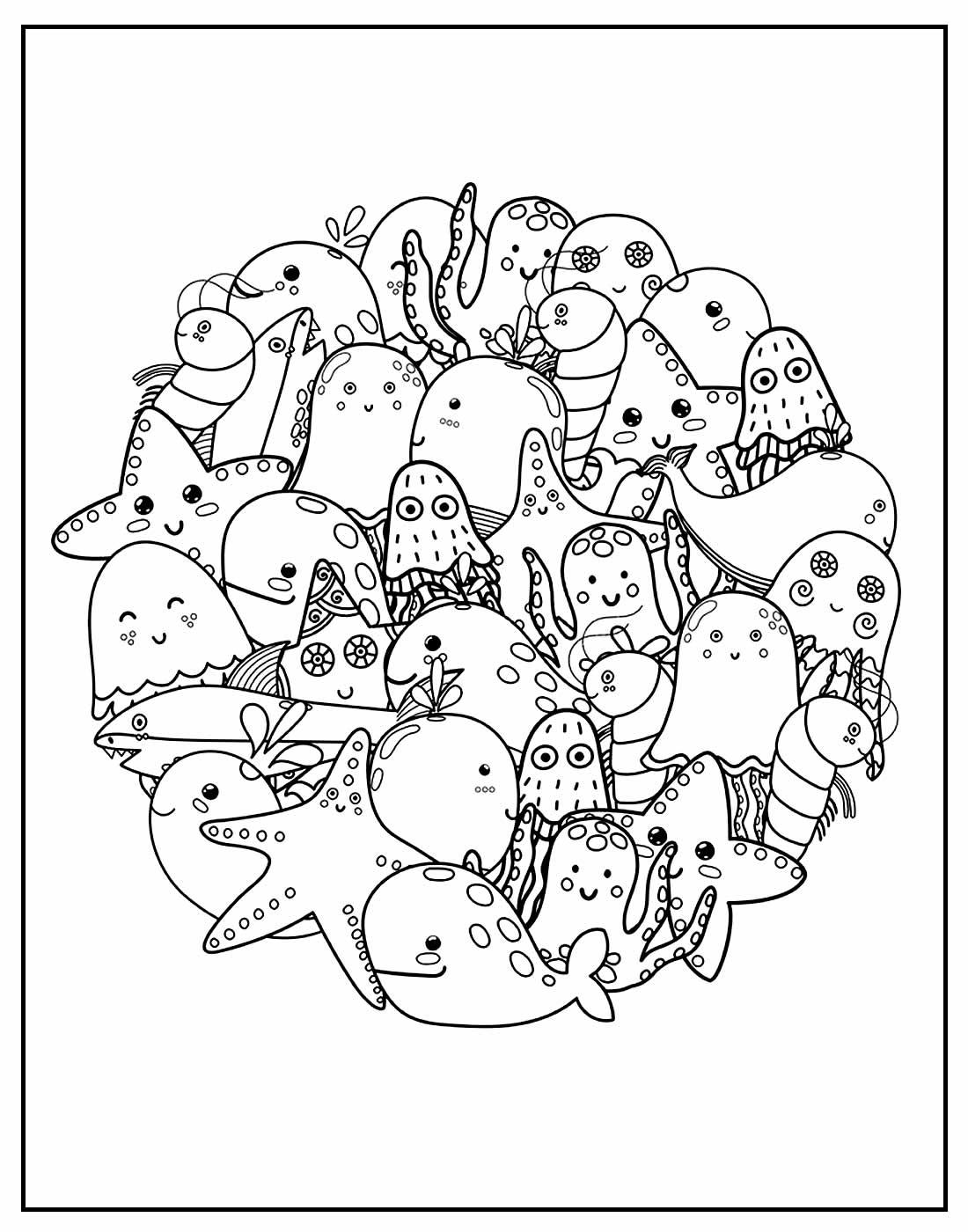 Página para colorir de Bichos