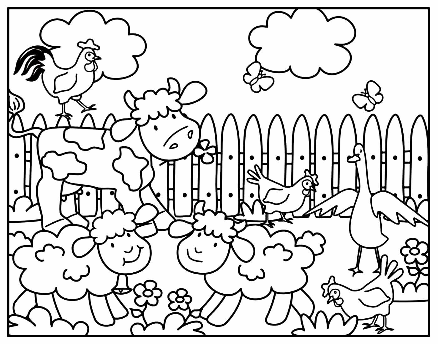 Página de Bichos para colorir