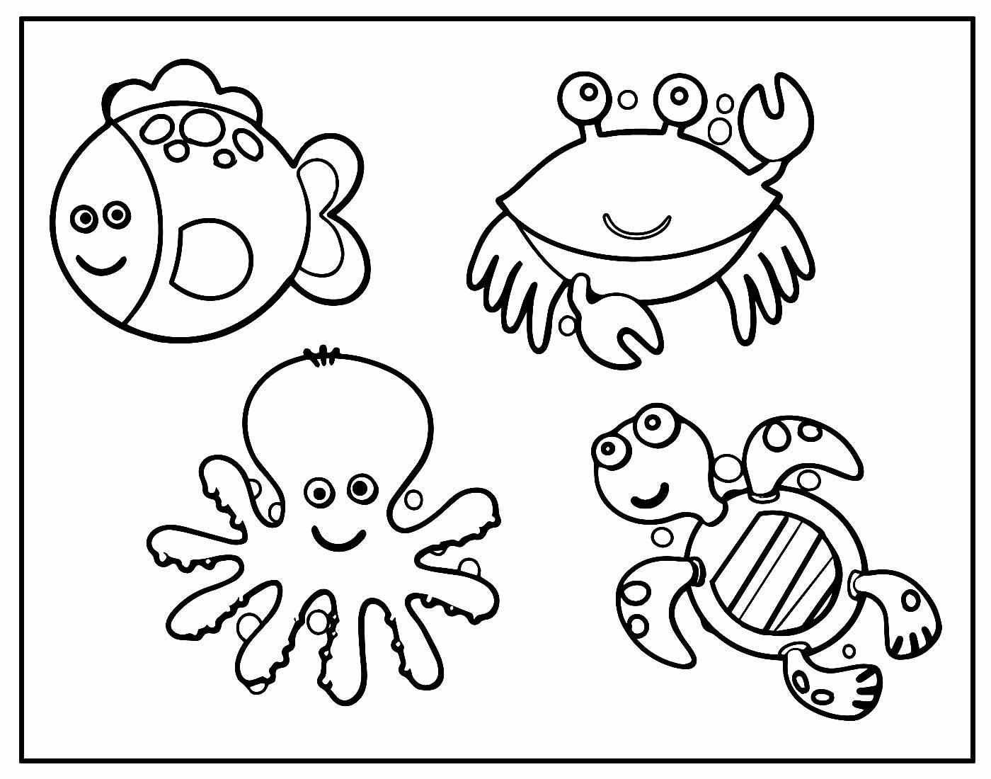 Desenhos de Bichos para pintar