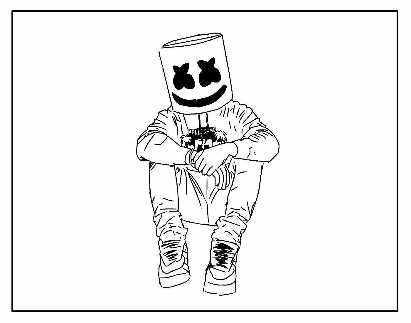 Página para colorir de Fortnite