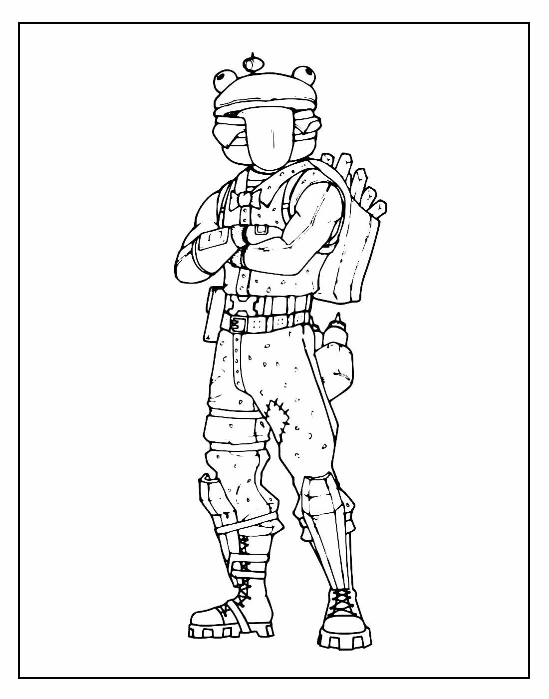 Desenho para pintar Fortnite