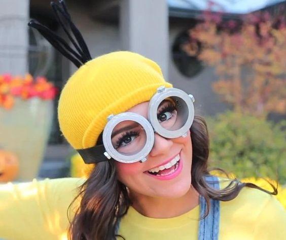 fantasia de minions para o carnaval capacete