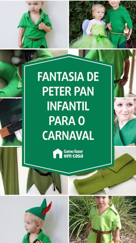 fantasia de peter pan infantil para o carnaval