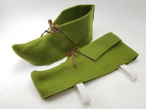Sapato de feltro de Peter Pan