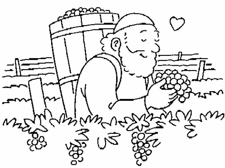 Desenho de Uva para colorir e pintar