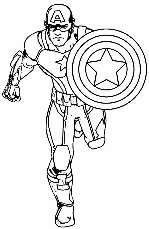 Desenho para colorir de Capitão América