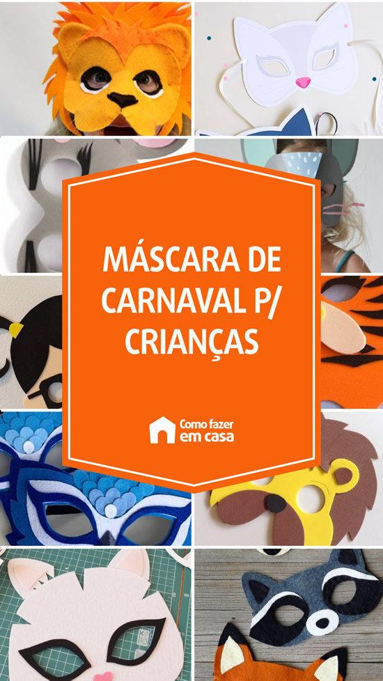 máscara infantil para carnaval